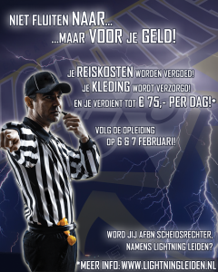 Lightning Leiden - Referee Recruitment poster 01